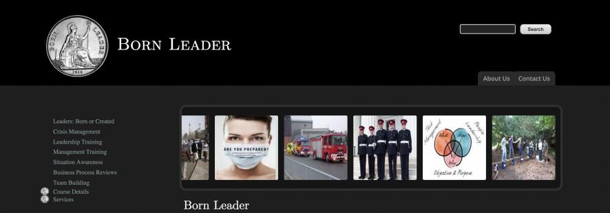 Born Leader Website Image
